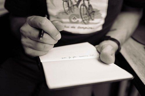 Man holding notepad
